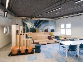 Amersfoort Waterschapshuis Maatwerk Interieur Inrichting Werkcafe Spuitplafonds Intermontage