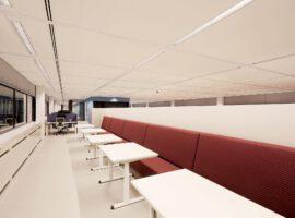 Bank op Maat Intermontage IBP Interieurbouw Zitmeubel Ronde Bank Wachtbank Hangbank Zitbank Wandbank Maatwerk