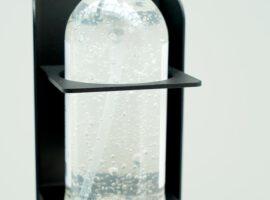 Desinfectiezuil Hygienezuil Luxe zuil Metaal Zwart Corona Preventie Intermontage