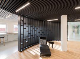 Deventer JPR Advocaten Privacy Kantoor Interieur WoodFrame Wanden Heartfelt Plafond Intermontage