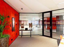 Dubbelglas Systeemwand TWIN Glazen Wand Kantoor Intermontage