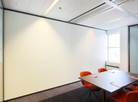 Gesloten systeemwand kantoor nulvoeg tussenwand Intermontage
