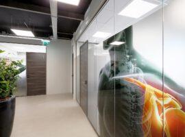 Glazen Systeemwand Glaswand Glazen wand Kantoor Intermontage