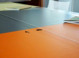 Hangend Scherm Preventie Corona Werkplekscherm Scherm aan Plafond Intermontage