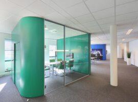 I-Cube Intermontage Transparante Unit Privacy Glazen Kantoor