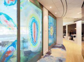 Lelystad Waterschap Zuiderzeeland Intermontage Interieurbouw Hergebruik Wanden Second Life Gouden Kikker Duurzaam Gebouwd