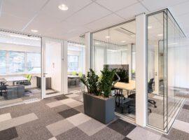 Noordwijk ESA ESTEC Kantoren Privacy Geluidsisolatie Glazen Stalen Wanden Intermontage