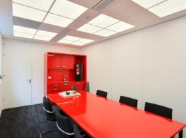 Omega Systeemwand Glascassettes Elementen Glaswand Gesloten Wand Kantoor Intermontage