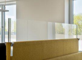 Opzetscherm Akoestisch Paneel Werkplek Kantoor Preventie Corona COVID-19 Intermontage