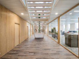 Poeldijk Horconex WoodFrame Glaswand Kantoor Maatwerk Interieur Intermontage