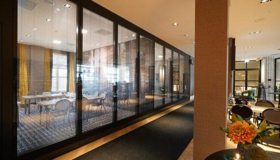 Premium Glas Mobiele Paneelwand Vouwwand Verplaatsbare Paneel Wand Intermontage