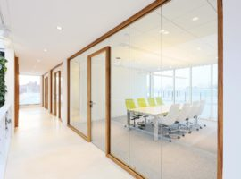 Terwolde Interieurcentrum Intermontage WoodFrame Glazen Systeemwand