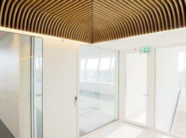 Utrecht LSI Universiteit Intermontage Wanden Houten Plafond Atrium Akoestiek
